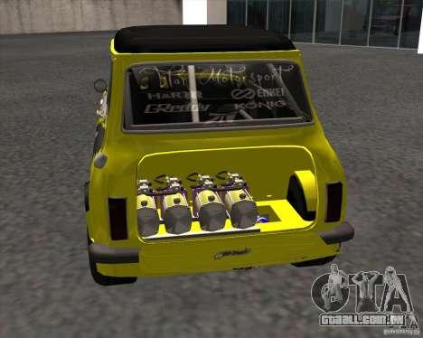 Mini Cooper S Titan Motorsports para GTA San Andreas traseira esquerda vista