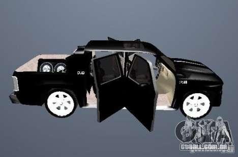 Chevrolet Suburban para GTA San Andreas vista interior