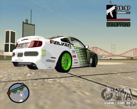 Ford Mustang GT 2010 Vaughn Gittin Jr para GTA San Andreas vista traseira