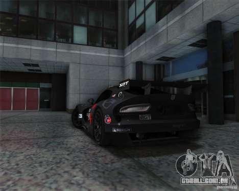 SRT Viper GTS-R V1.0 para GTA San Andreas vista direita