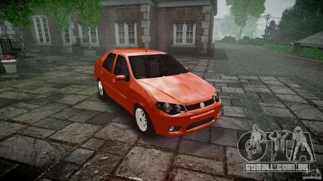 Fiat Albea Sole para GTA 4 vista de volta