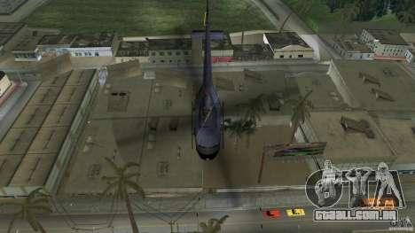 Maverick Bell-Huey para GTA Vice City vista traseira