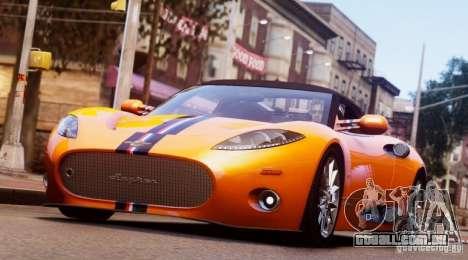 Spyker C8 Aileron Spyder Final para GTA 4