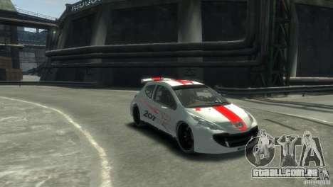 Peugeot 207 para GTA 4 traseira esquerda vista