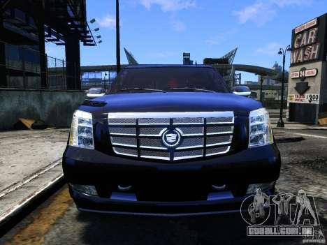 Cadillac Escalade v3 para GTA 4 vista de volta