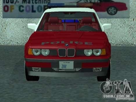 BMW 535i E34 Police para GTA San Andreas esquerda vista