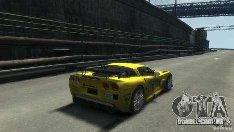 Chevrolet Corvette C6-R para GTA 4 esquerda vista