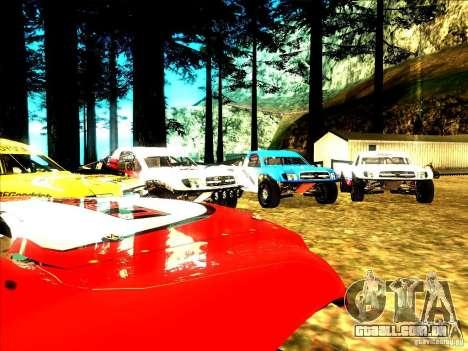 Toyota Tundra Rally para GTA San Andreas vista superior