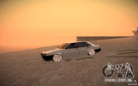 VAZ 21099 LifeStyle Tuning para GTA San Andreas vista traseira