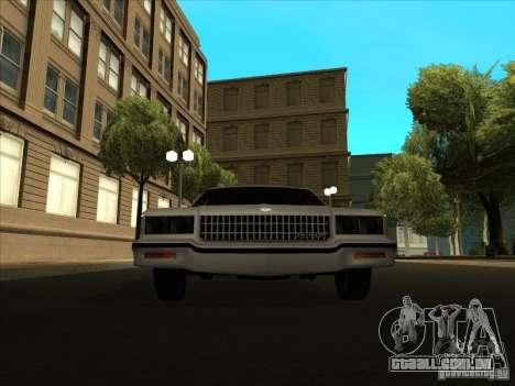 Chevrolet Caprice 1986 para GTA San Andreas traseira esquerda vista
