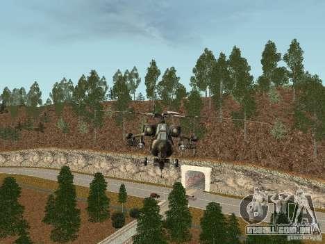 MI 28 HAVOC para GTA San Andreas traseira esquerda vista