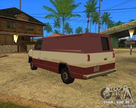 Transporter 1987 - GTA San Andreas Stories para GTA San Andreas esquerda vista