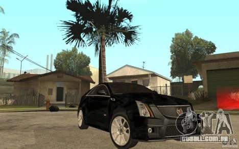 Cadillac CTS V Coupe 2011 para GTA San Andreas vista traseira