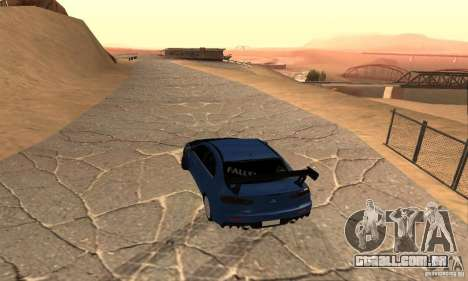 New Drift Zone para GTA San Andreas por diante tela