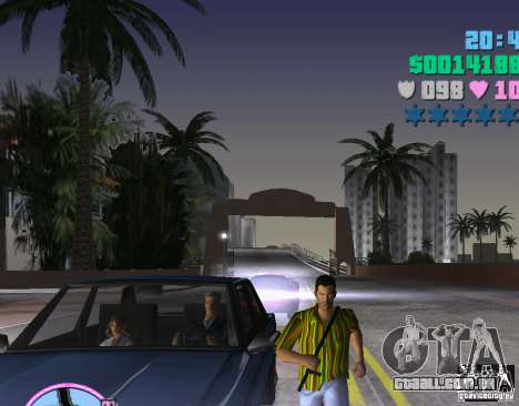 Listras de camisa havaiana. para GTA Vice City segunda tela