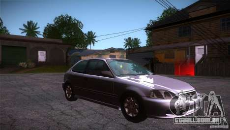 Honda Civic Tuneable para GTA San Andreas vista traseira
