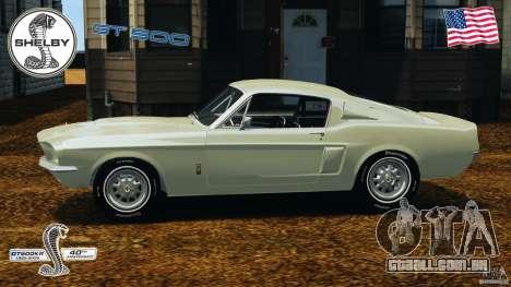 Shelby GT 500 para GTA 4 esquerda vista
