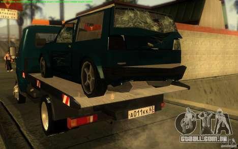 Caminhão de reboque 14 3302-gazela para GTA San Andreas vista direita