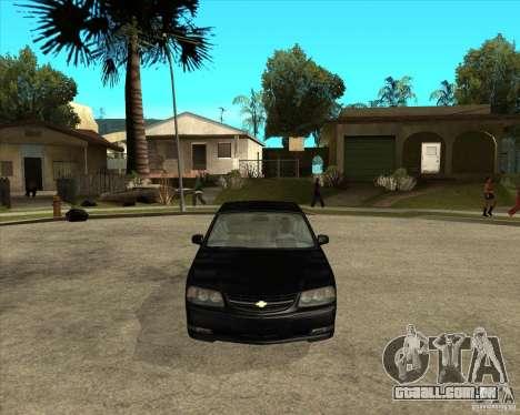 2003 Chevrolet Impala SS para GTA San Andreas vista traseira