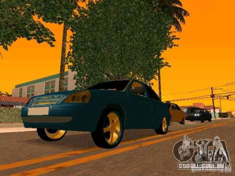 LADA 2170 Priora Gold Edition para GTA San Andreas interior
