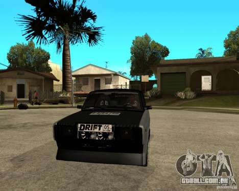 ВАЗ 2107 drift para GTA San Andreas vista traseira