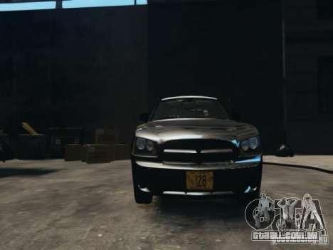 Dodge Charger Slicktop 2010 para GTA 4 vista de volta