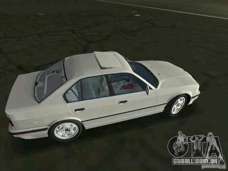 BMW 540i (E34) 1992 para GTA Vice City deixou vista