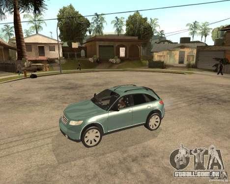 INFINITY FX45 para GTA San Andreas vista direita