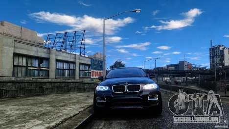 BMW X6 2013 para GTA 4 vista de volta