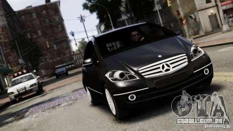 Mercedes Benz A200 Turbo 2009 para GTA 4 vista de volta