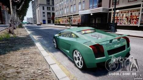 Lamborghini Gallardo para GTA 4 traseira esquerda vista