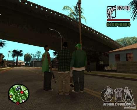 Ajuda bratkov para GTA San Andreas por diante tela