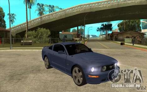 Ford Mustang 2005 para GTA San Andreas vista traseira