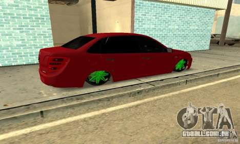 Lada Granta Dag Style para GTA San Andreas esquerda vista