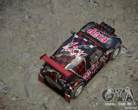 Mitsubishi Pajero Proto Dakar vinil 3 para GTA 4 vista inferior