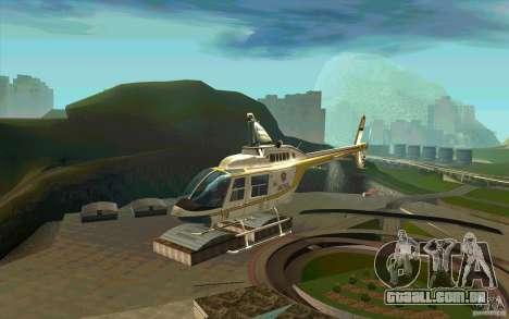 Bell 206 B Police texture4 para GTA San Andreas
