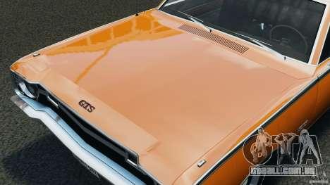 Dodge Dart GTS 1969 para GTA 4 vista interior