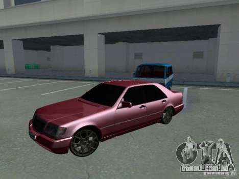 Mercedes-Benz S600 W140 v 2.0 para GTA San Andreas traseira esquerda vista