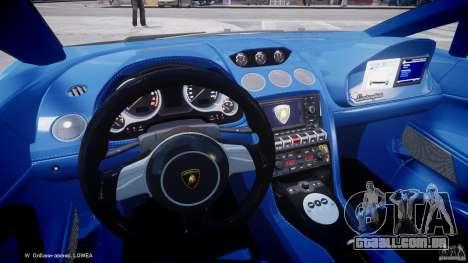 Lamborghini Gallardo LP560-4 Polizia para GTA 4 vista de volta