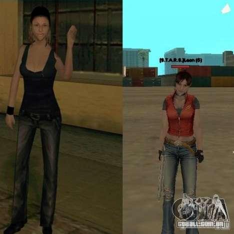 Pak personagens de Resident Evil para GTA San Andreas quinto tela