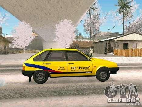 VAZ 21093i TMK Afterburner para GTA San Andreas traseira esquerda vista
