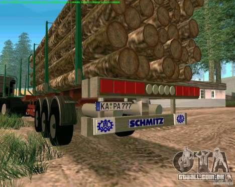 Trailer de Kamaz 65117 para GTA San Andreas vista traseira
