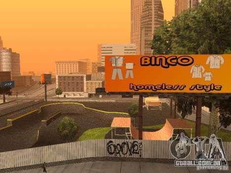 New SkatePark para GTA San Andreas quinto tela