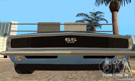 Chevrolet Camaro SS 1967 para GTA San Andreas vista inferior