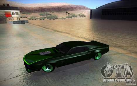 Ford Mustang RTR Drift para GTA San Andreas vista interior