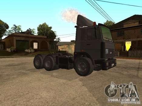 Caminhão MAZ 5336 para GTA San Andreas esquerda vista