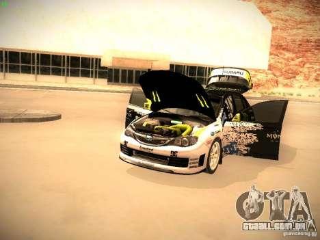 Subaru Impreza Gymkhana para GTA San Andreas vista traseira