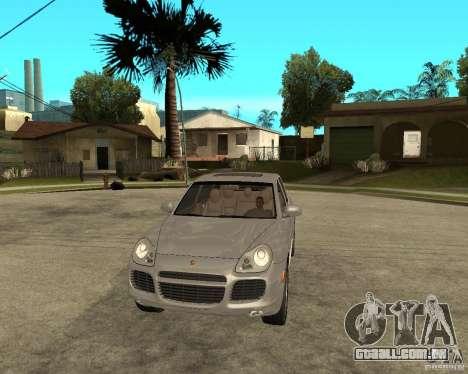 Porsche Cayenne Turbo para GTA San Andreas vista traseira