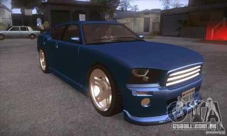 GTA IV Buffalo para GTA San Andreas vista traseira