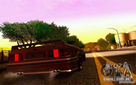 BMW E30 M3 Cabrio para GTA San Andreas vista traseira